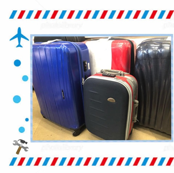 スーツケースもよく修理します!!