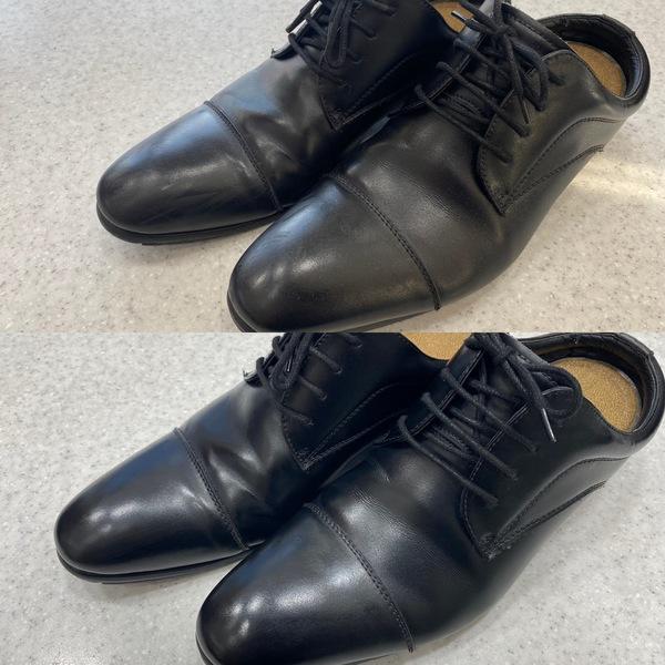 オシャレは足元から!ピカピカな靴で!!